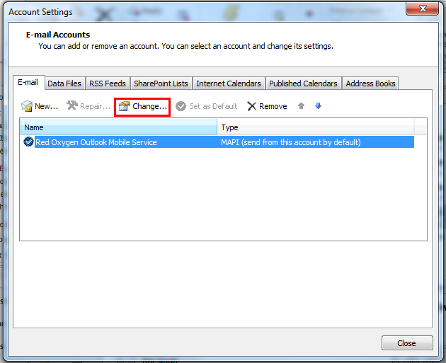 how to change password outlook mobile
